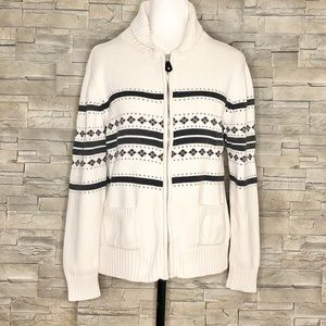 PURE Alfred Sung off-white cardigan
